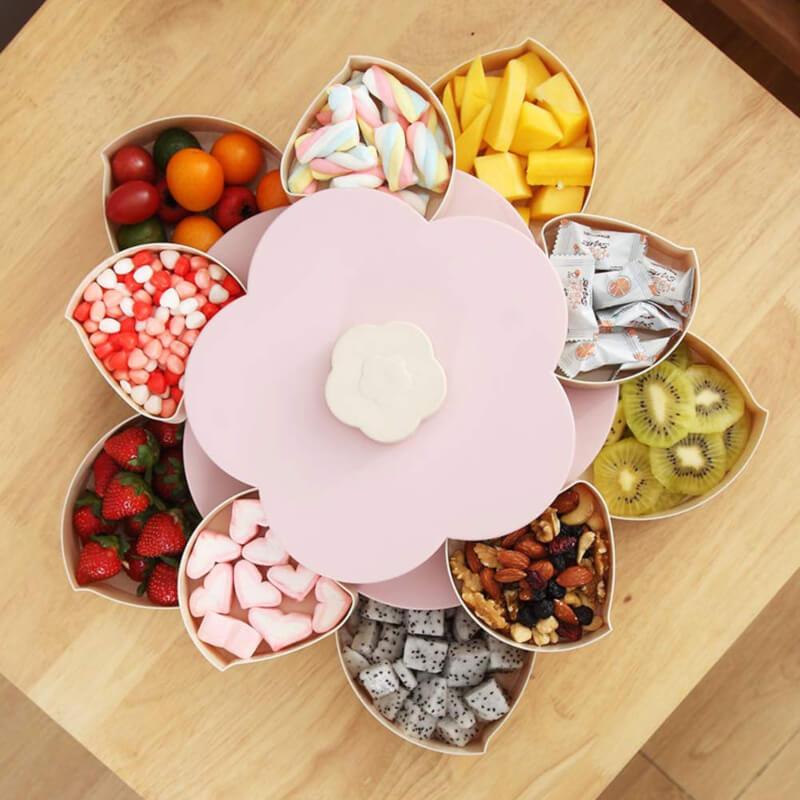Stylish Dry Fruit,Nimko,Nuts Storage Box..Flower Shaped