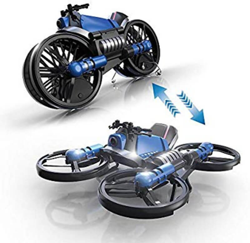 Mini Drone Quadcopter & Motorcycle 2 in 1 for Kids
