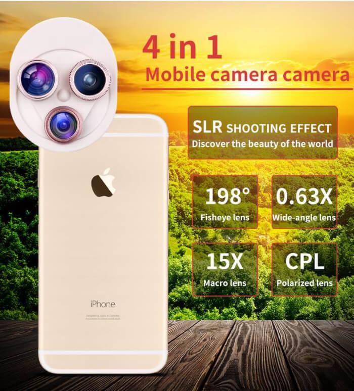 Universal-mobile-phone-camera-lens-4-in-1