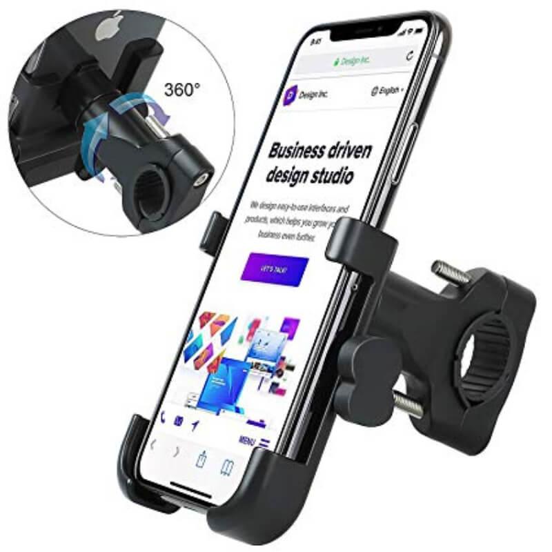 2 IN 1 Bike Phone Mount, Adjustable, Waterproof, Rotating