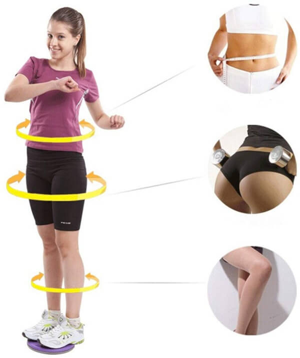 Twisting Waist Disc Bodytwister Ankle Body Aerobic Exercise