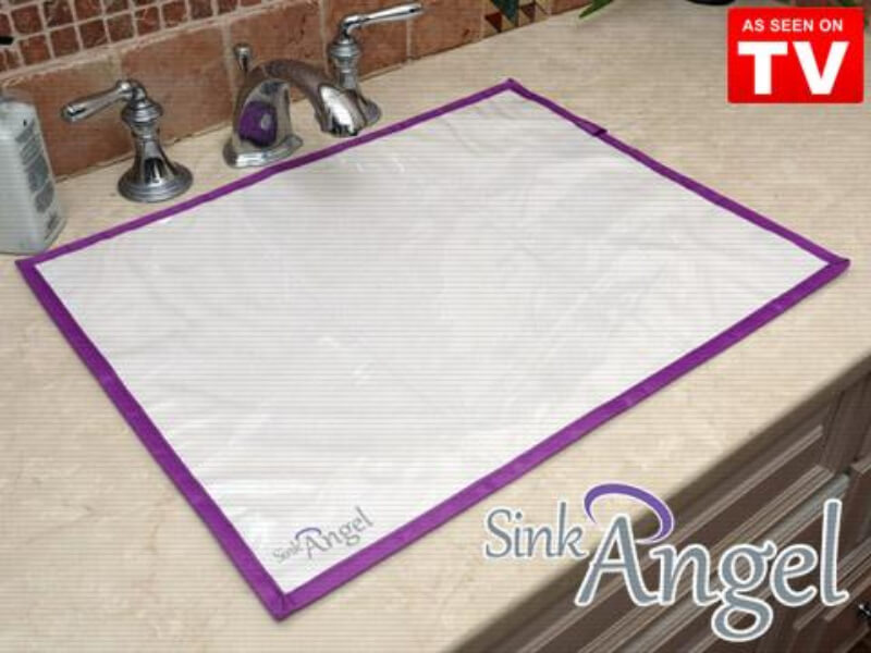 Sink Angel Stick-On Bathroom Sink Mat