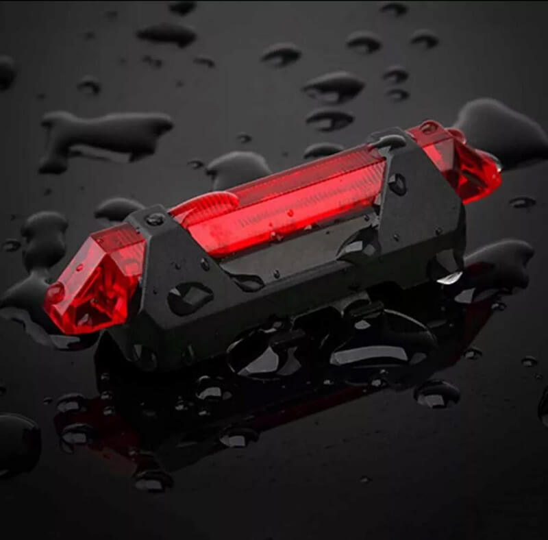 1pc Portable Red Bicycle Tail Light - Safety Warning Lamp