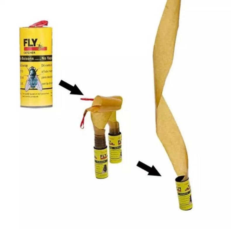 4 Rolls Sticky Fly Paper-Flies Insect Bug Glue Paper Catcher