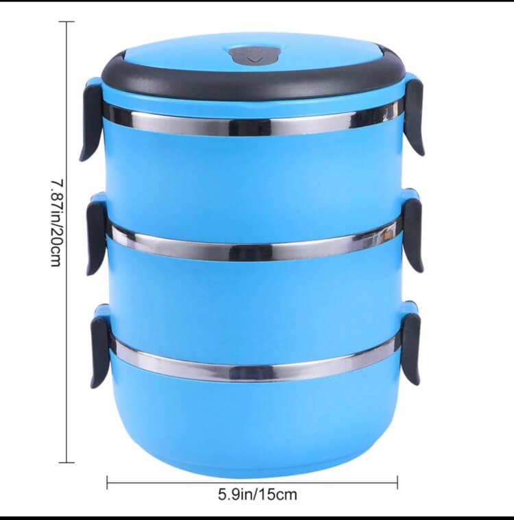 3 Layers Box Heat Preservation Food Container