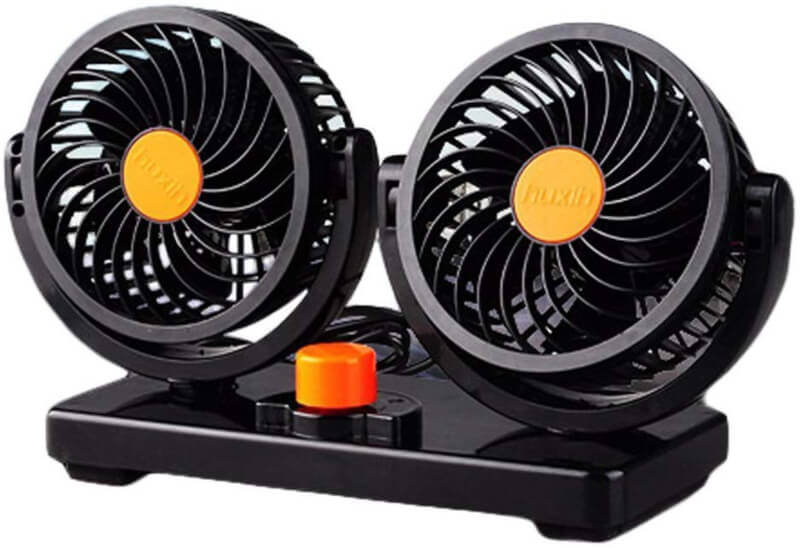 Dual Head Electric Car Fan
