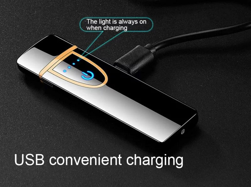 Cigarette Lighter Touch Screen USB Charging Lighter