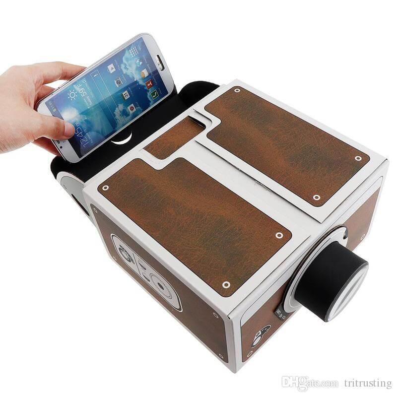 3D Projector Cardboard Mini Smartphone Projector