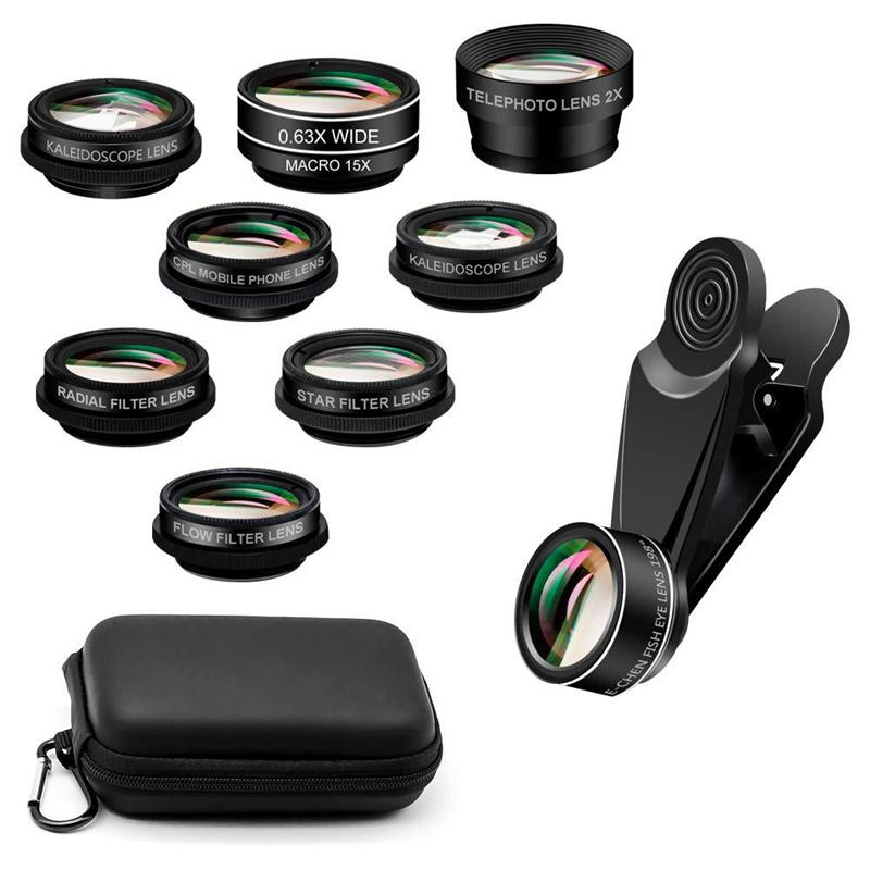 10 in 1 Mobile photo Fish Eye Wide Angle Camera Lenses Set