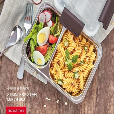 Tedemei Stainless Steel Single Round Shape lunch Box