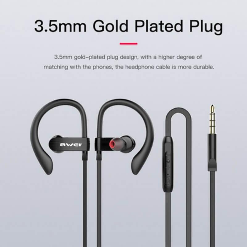 Ear Sport Super Bass Earphone Wired Music Mic Headphone