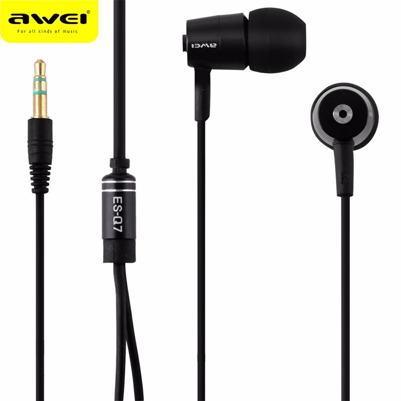 Awei ES Q7 Earphones In Ear with Sozy Earbuds 3.5mm Jack