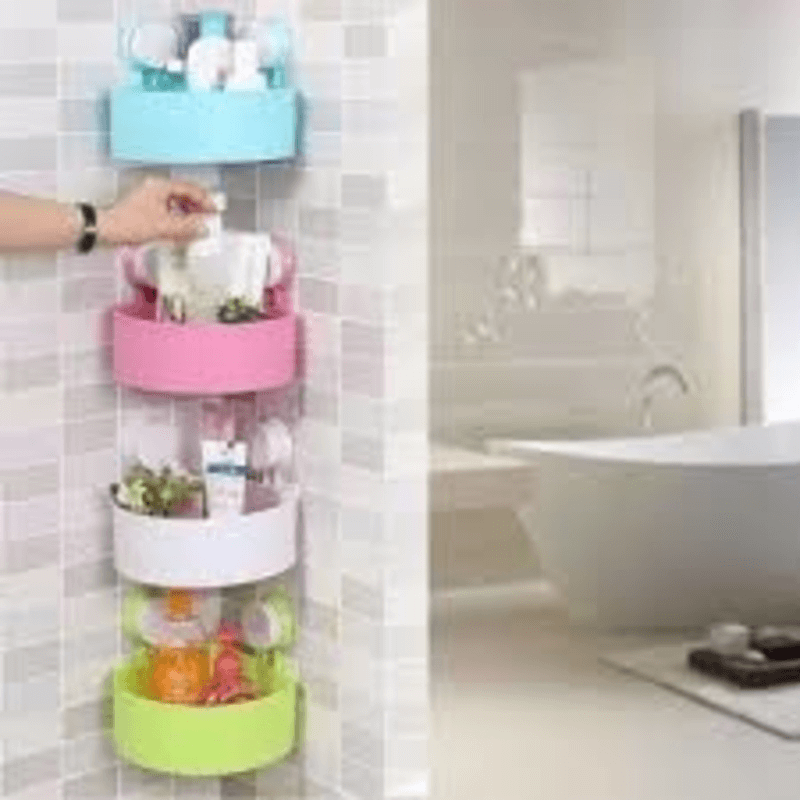 Triangle Bath &Kitchen Corner Storage Shelf with Suction Cup 2pcs