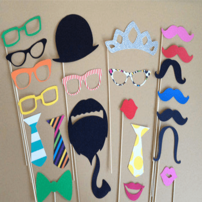 Pack Of 34 - Party Photo Props