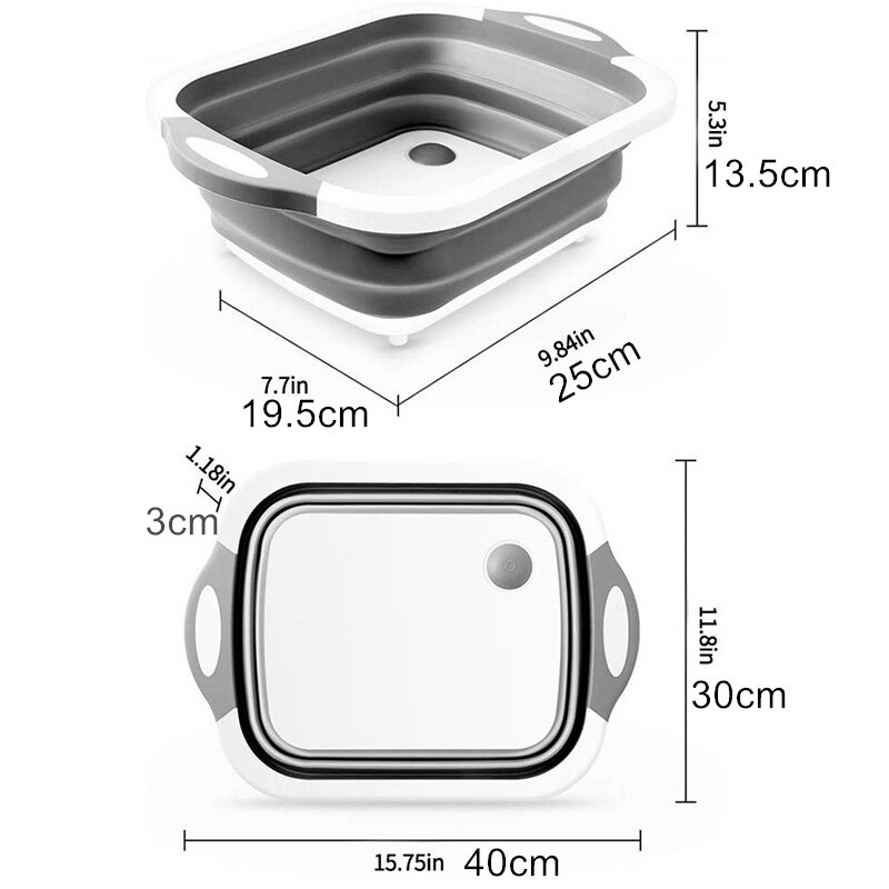 3 in 1 Board with Colander Foldable Multi-function