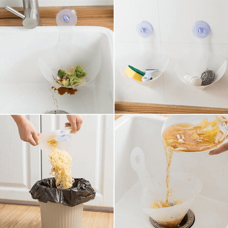 Self-Standing Foldable Sink Stopper-- Anti-Blocking Device