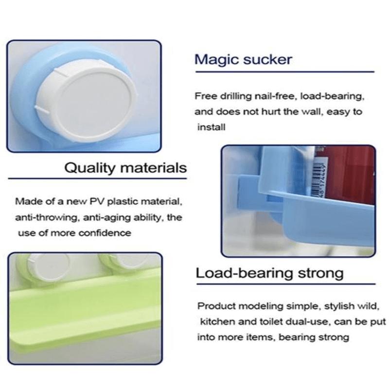 Powerful Shelf Kitchen Suction Storage Holder