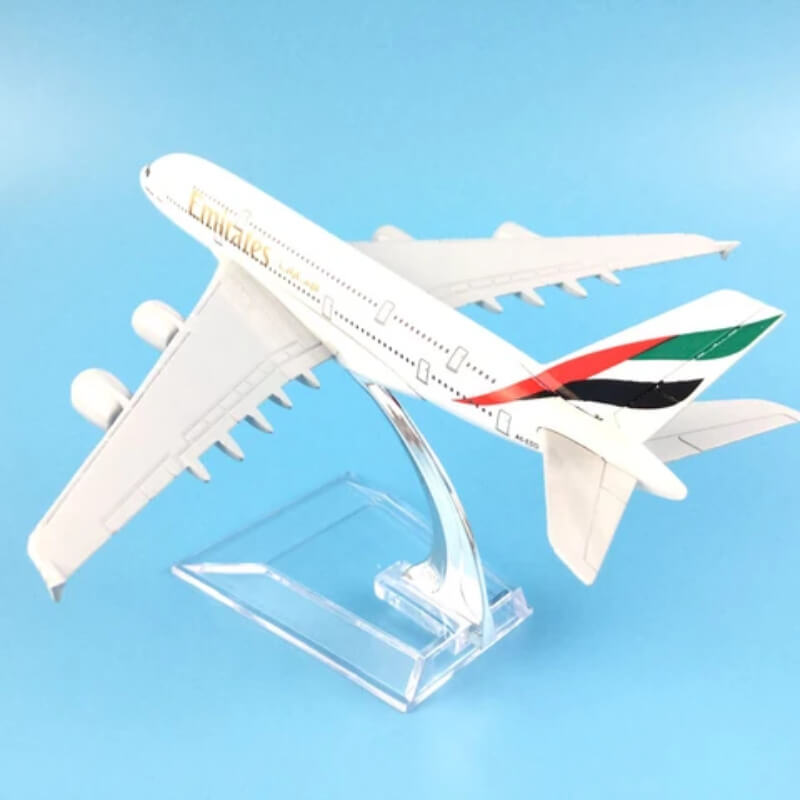 Metal Airplane - Emirates A380