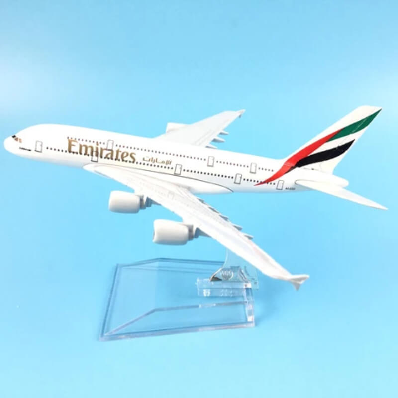 Metal Airplane - Emirates A380