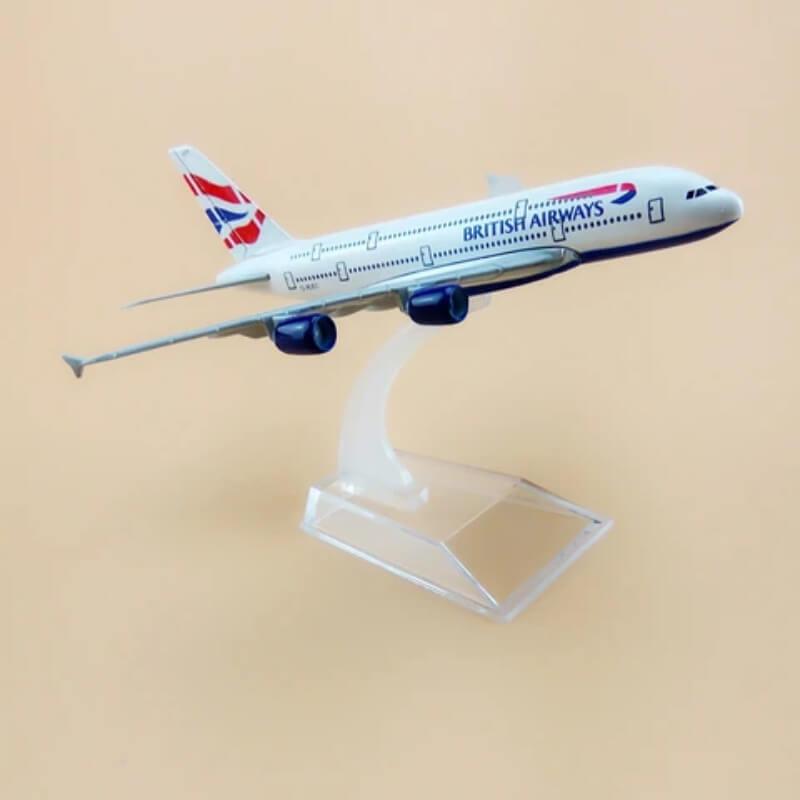 Metal Airplane - British Airways Airbus 380