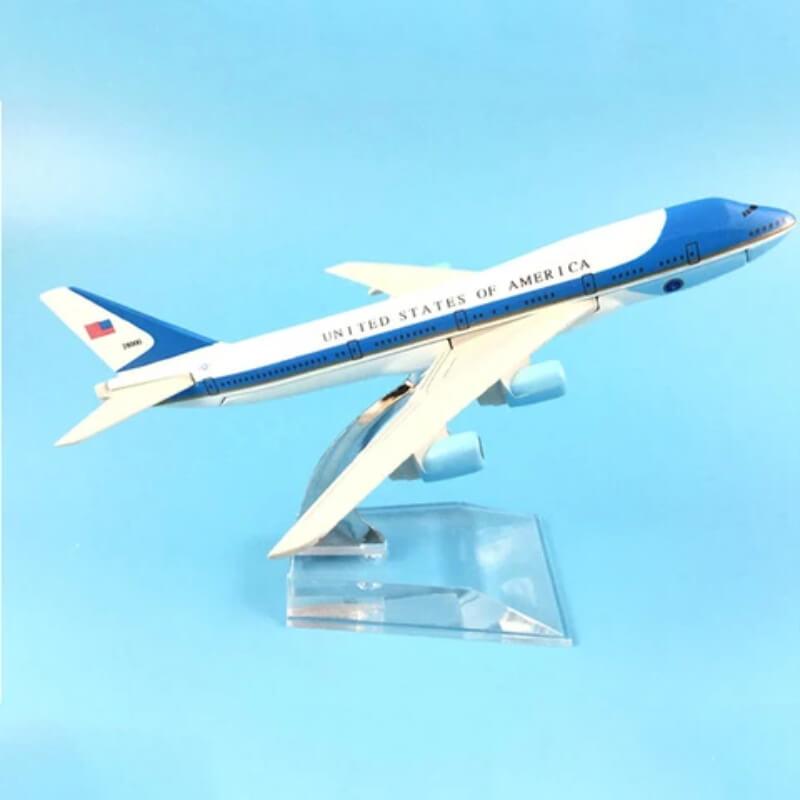 Metal Airplane - Air Force One Boeing 747