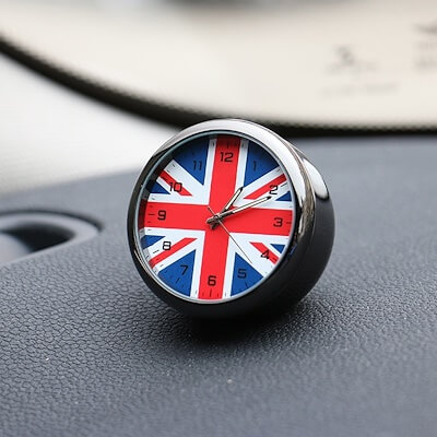 Automotive UK Flag Decoration Clock