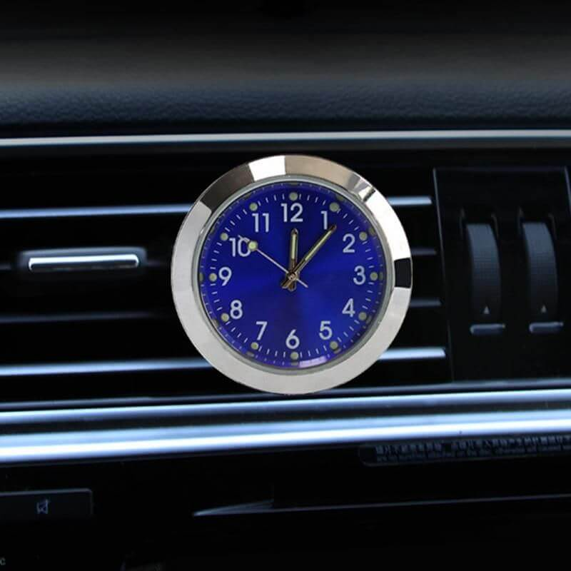 Watch Analog Quartz Car Clock Pocket Decor Blue