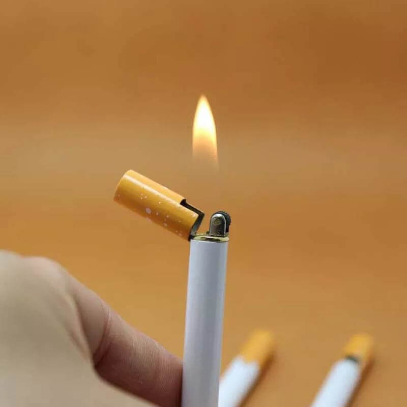Creative Cigarette Shape Windproof Jet Flame Lighter