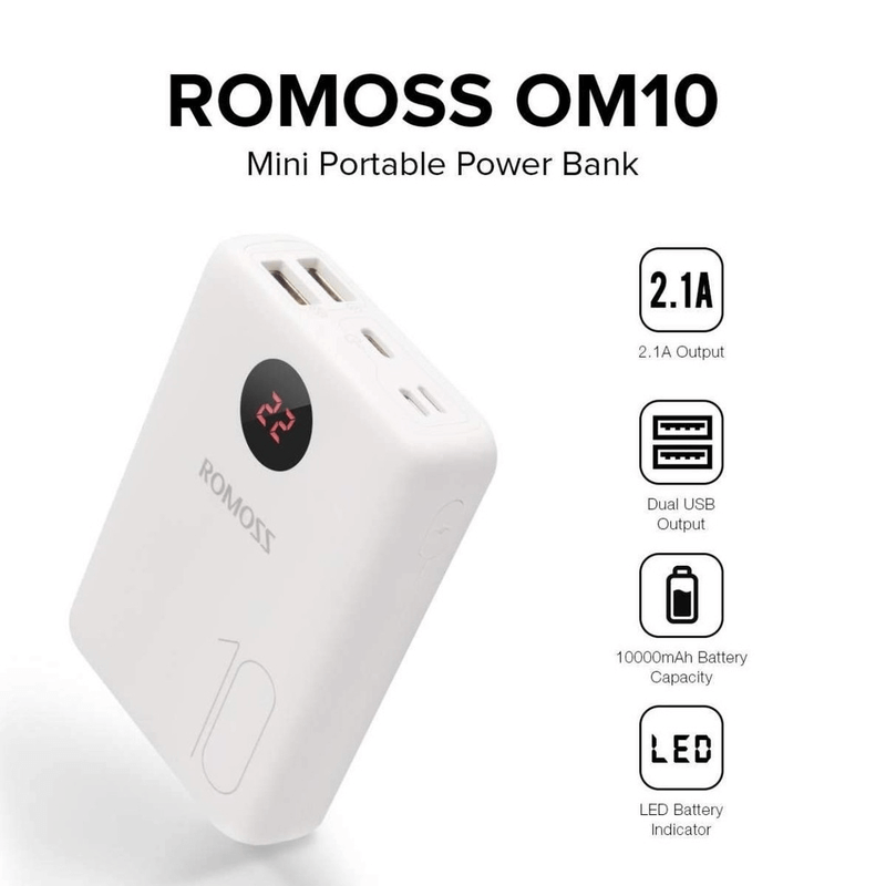 Romoss OM10 10000 mAh Mini Power Bank