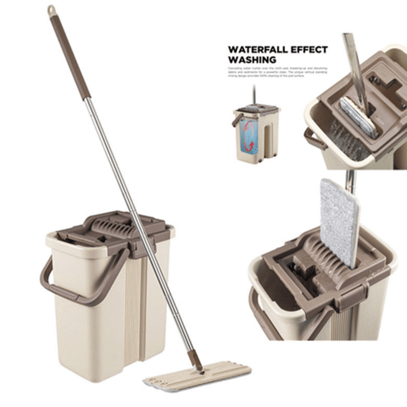 self-wash-squeez-dry-flat-mop-and-bucket