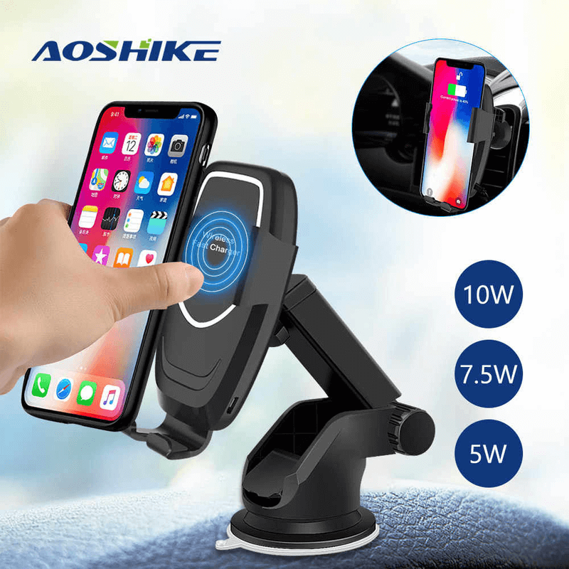 aoshike-K80-fast-charge-wireless-sensor-phone-holder