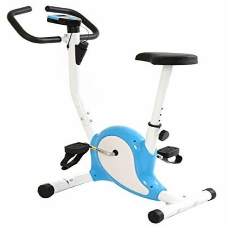 exercise-bike-blue-and-white