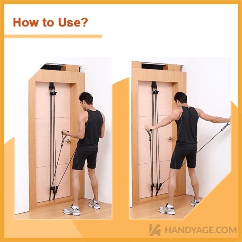 Door Gym Set with Pulley Design