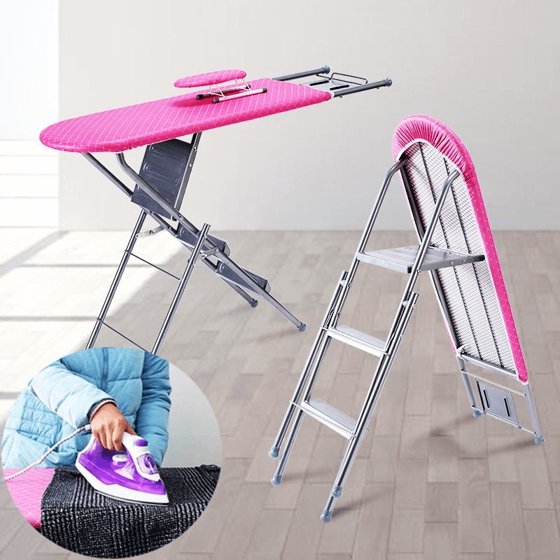 2-in-1-aluminum-folding-iron-table-with-4-step-ladder