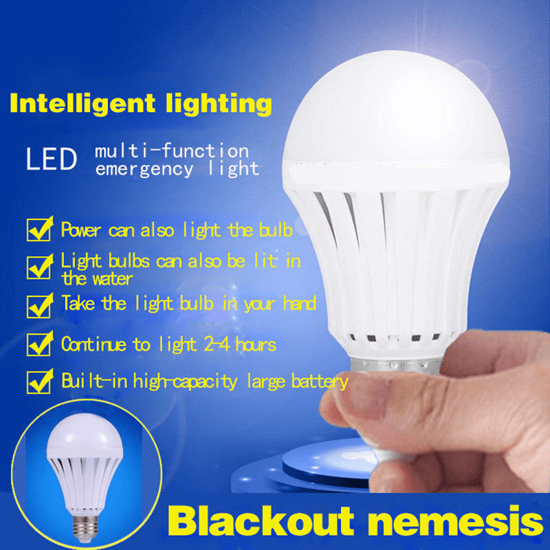 15W Multifunctional Emergency Energy Saving Lamp - LED Bulb + Battery