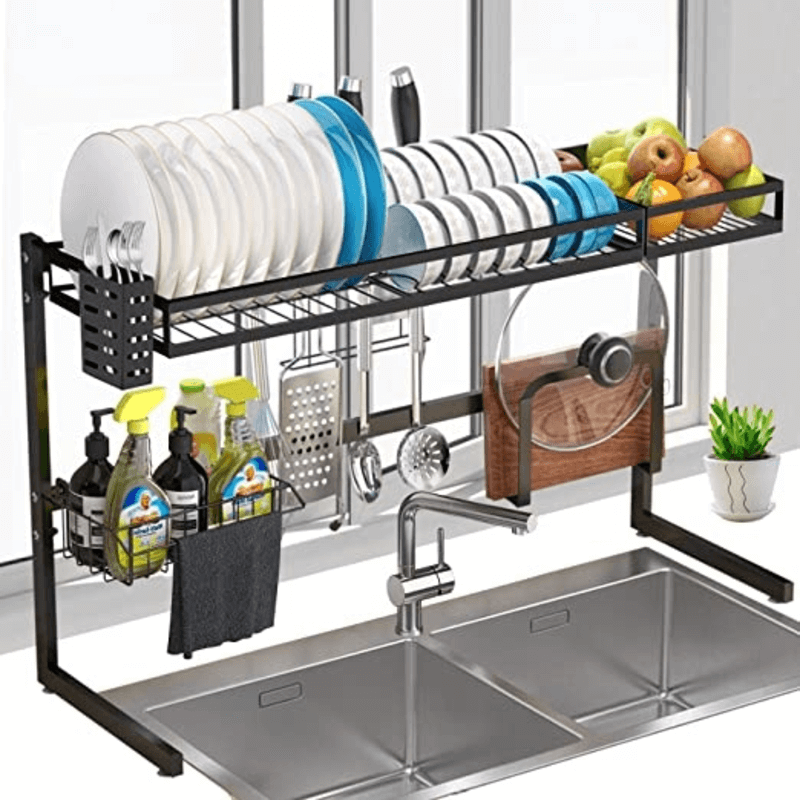 over-the-sink-dish-utensils-drying-rack