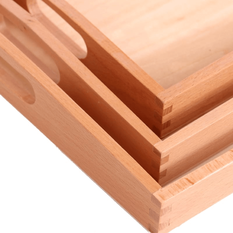 Set of 3 Bamboo Serving Trays