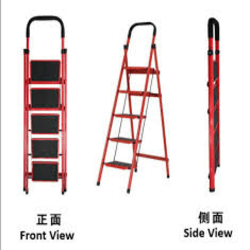 folding-5-tier-lightweight-steel-step-ladder-with-hand-grip