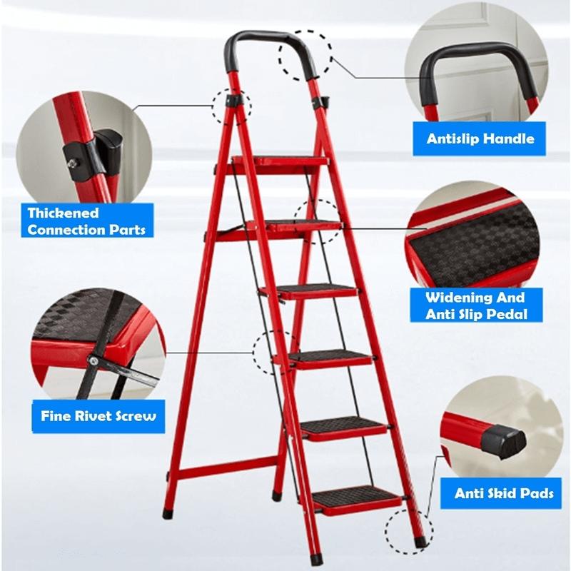 folding-6-tier-lightweight-steel-step-ladder-with-hand-grip