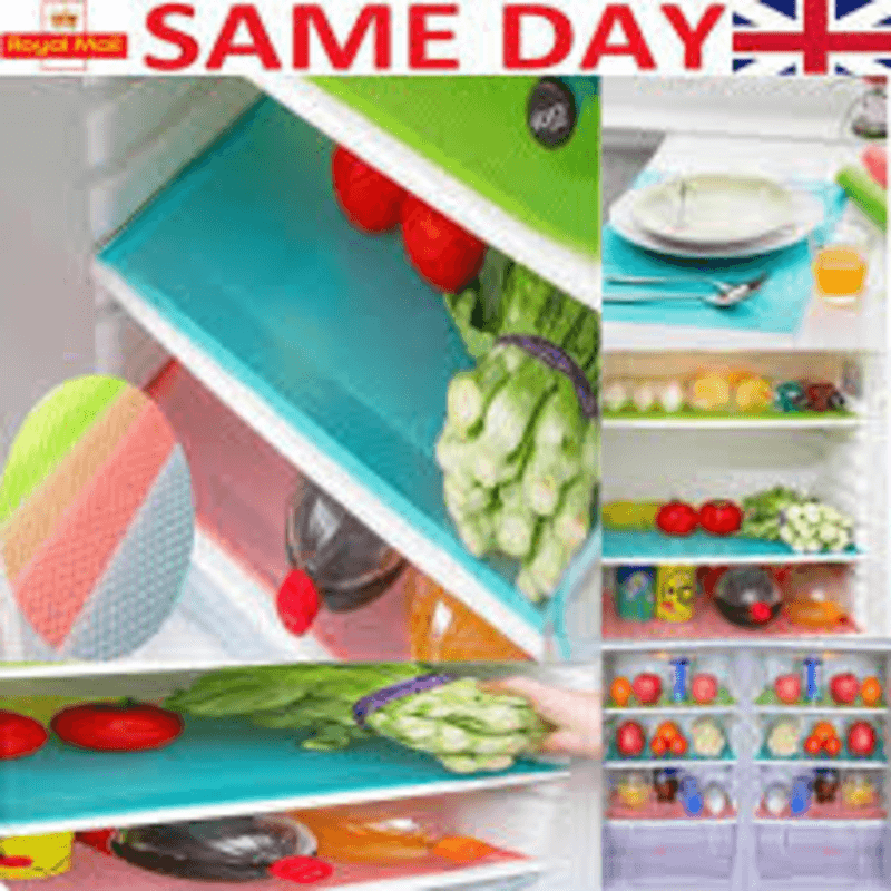 4 Pack Refrigerator Liners Multicolor Mats