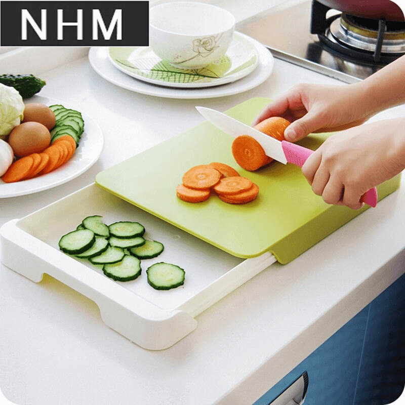 Multi-functional Chopping Board with Drawer