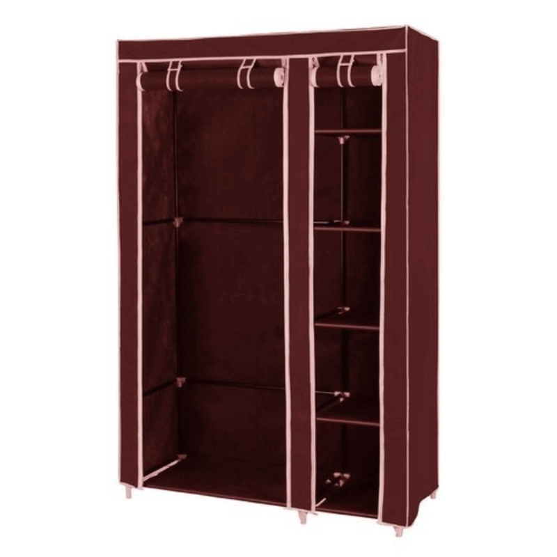 Collapsible Cloth Wardrobe (Brown)