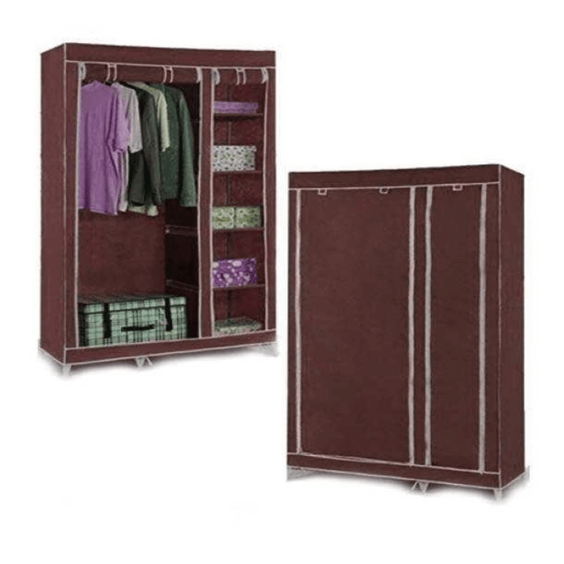 collapsible-cloth-wardrobe-brown