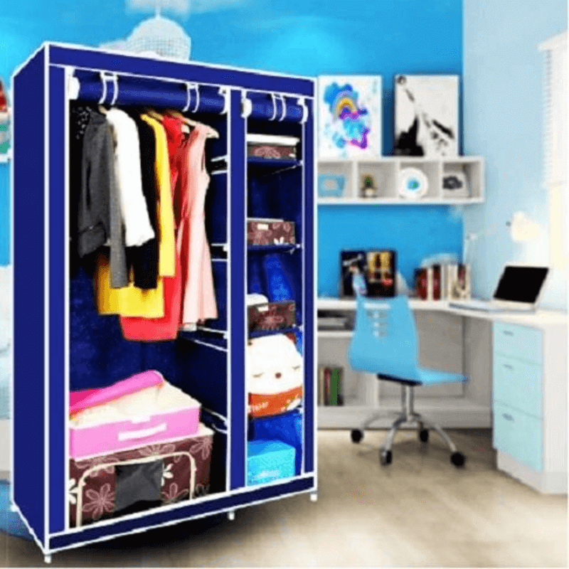 collapsible-cloth-wardrobe-blue