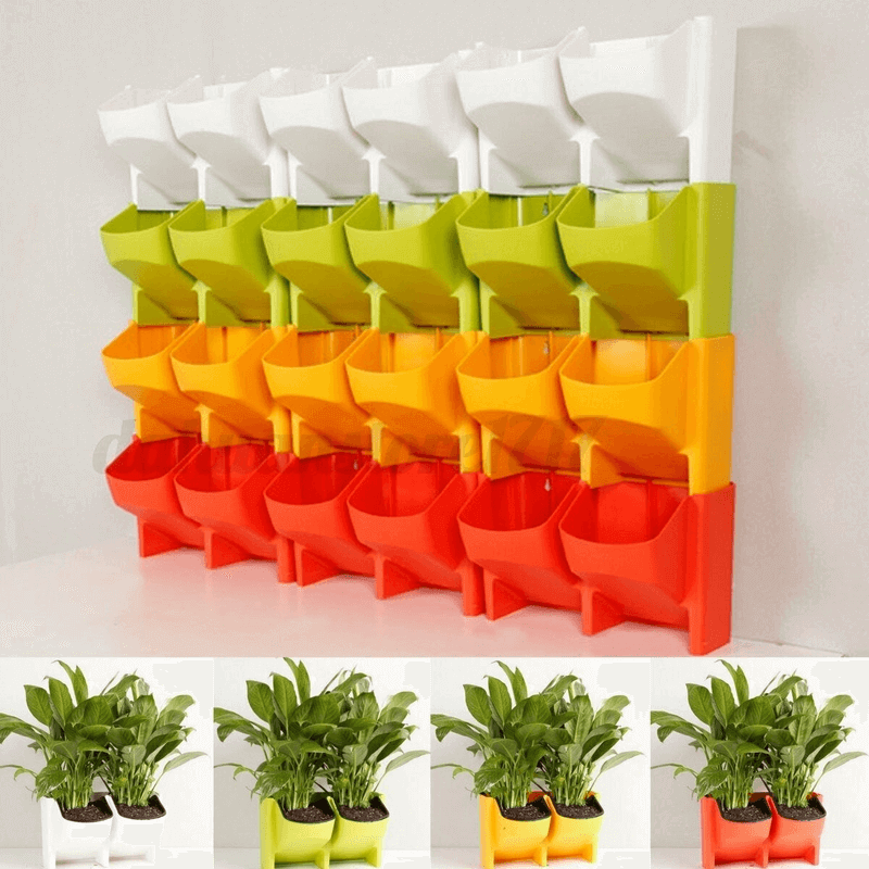 (2 Sides) Plant Growing Wall Mounted Pot