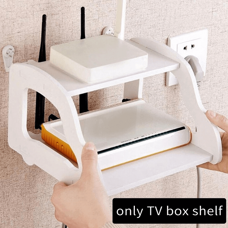 Wall Mounted Shelf For Wifi Router, Phone, Decorative Items 2 Layers