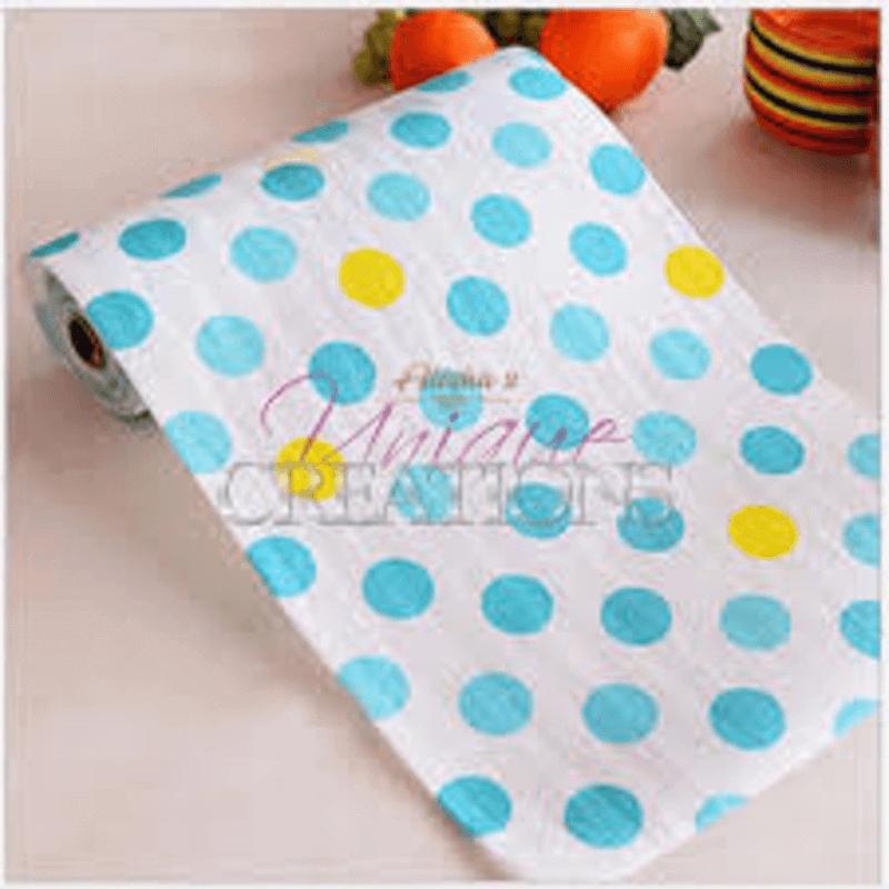 Antibacterial Table Roll Sheets (Polka Blue)