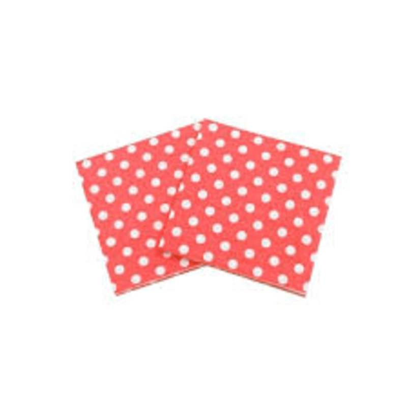 Antibacterial Table Roll Sheets (Polka Red)