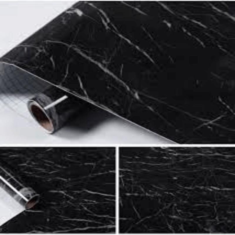 Self-Adhesive-Furniture-Sticker-Black-Marble