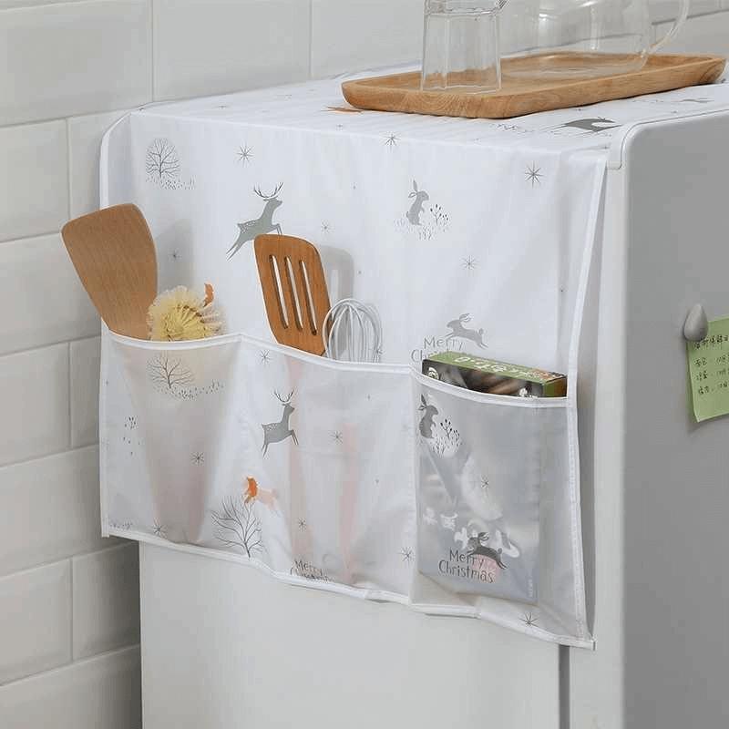 refrigerator-printed-fridge-cover-with-6-pockets-organizer